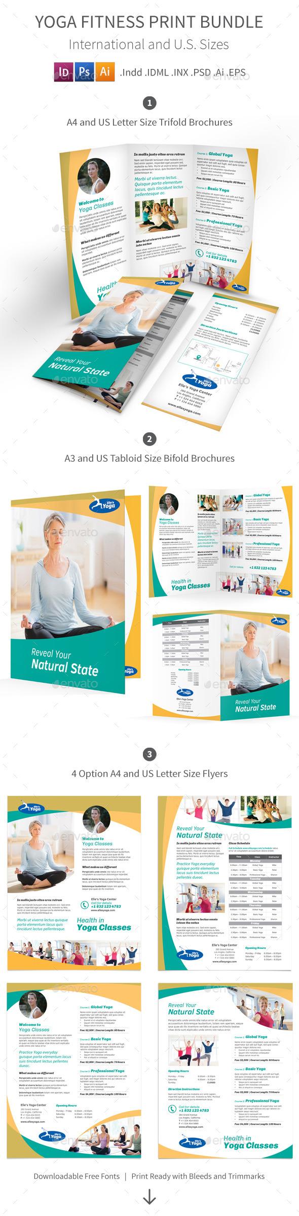 Yoga Fitness Print Bundle - Informational Brochures
