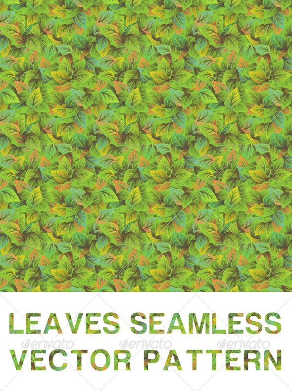Leaves Seamless Vector Pattern - Patterns Decorative