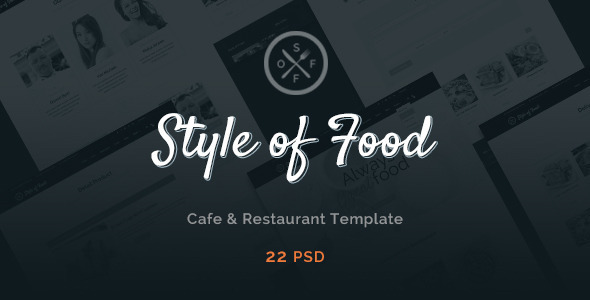 Style of Food Restaurant & Cafe PSD Template