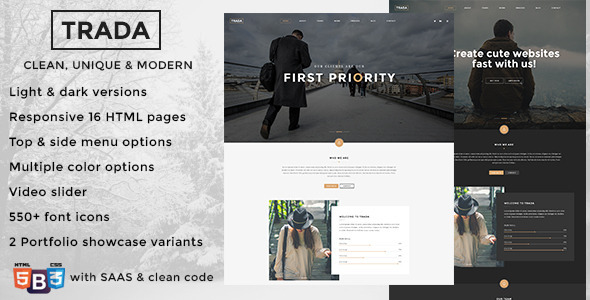 Trada – Multipurpose Creative Template