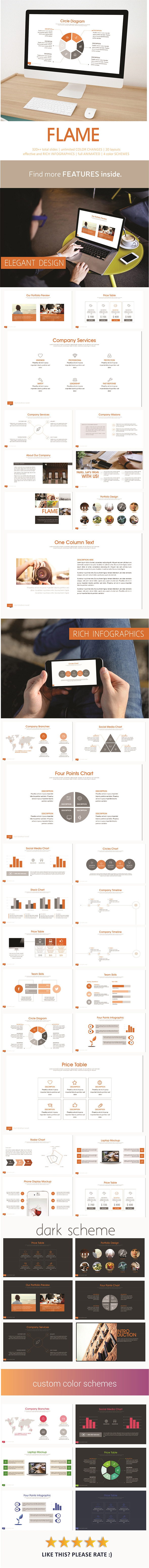 Flame PowerPoint Template - Business PowerPoint Templates