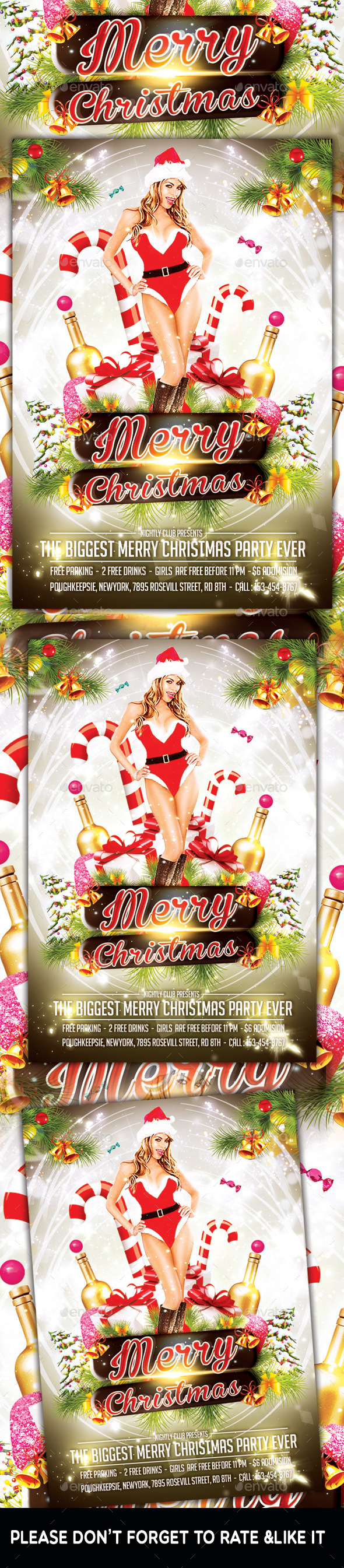 Merry Christmas Flyer - Flyers Print Templates