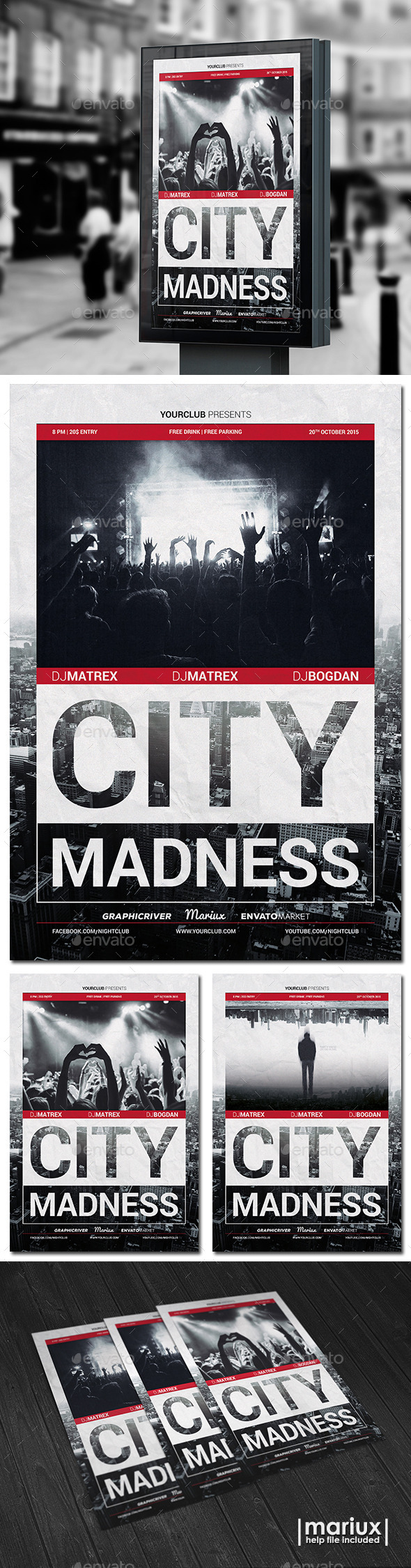 City Madness Party Flyer