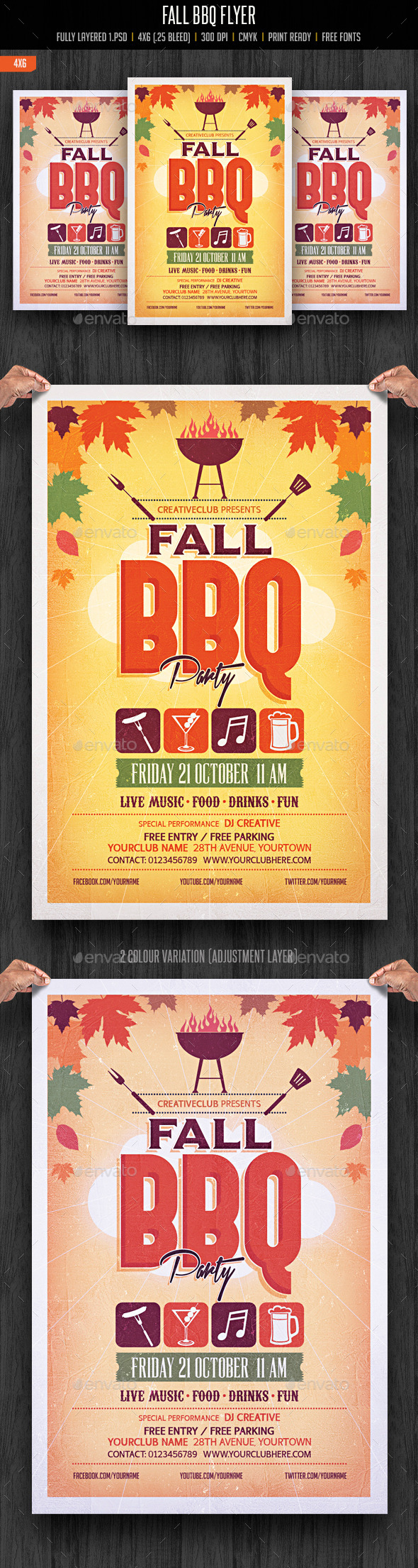 Autumn Fall BBQ Party - Clubs & Parties Events