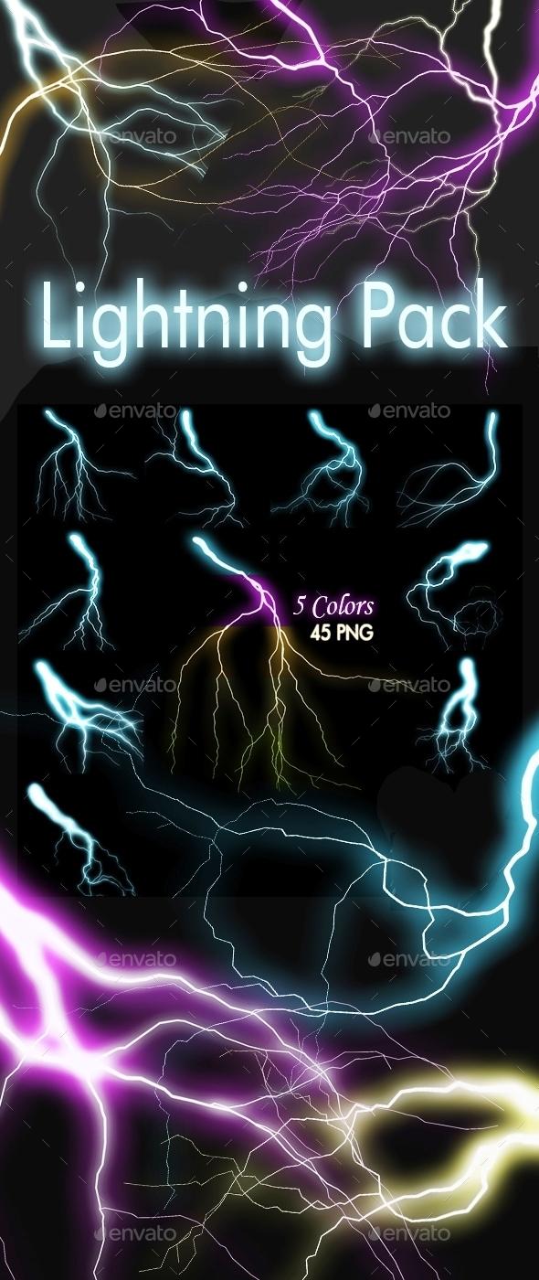 9 Lightning Shapes - Decorative Graphics