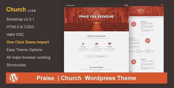 Praise Church | Church WordPress Theme