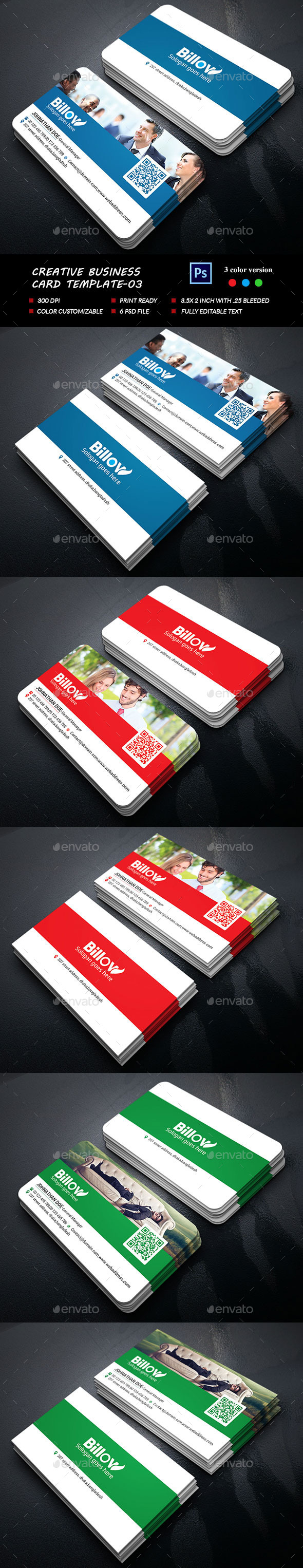 Creative Business Card-03 - Business Cards Print Templates