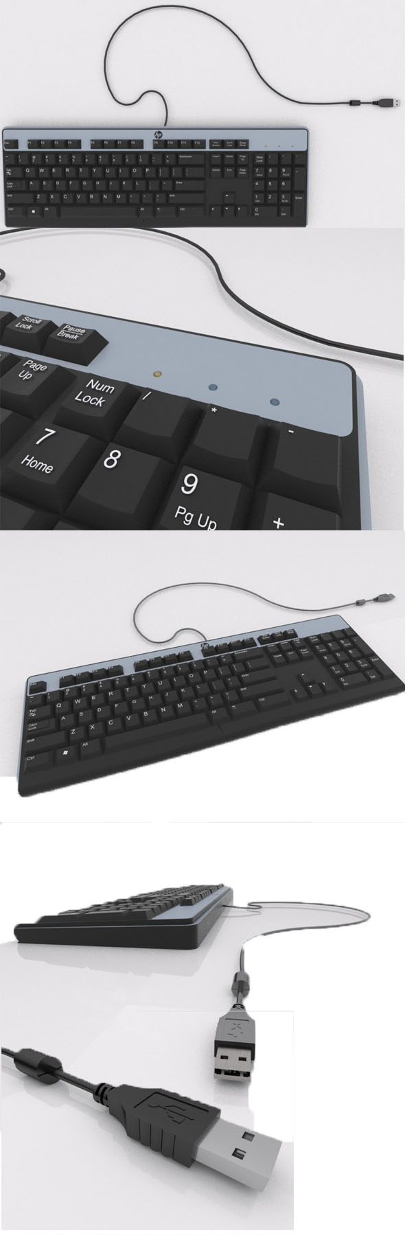 HP's usb keyboard  - 3DOcean Item for Sale