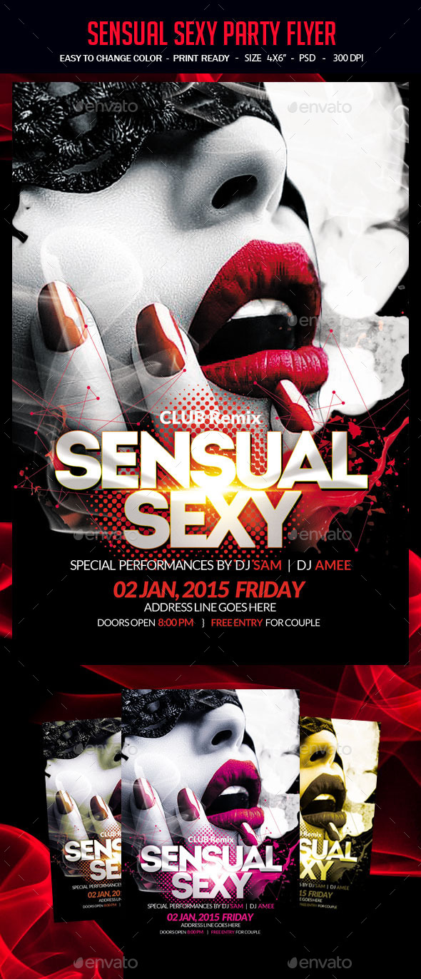 Sensual Sexy Party Flyer - Clubs & Parties Events