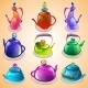 Set of Tea Kettles - GraphicRiver Item for Sale