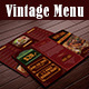 Vintage Menu - GraphicRiver Item for Sale
