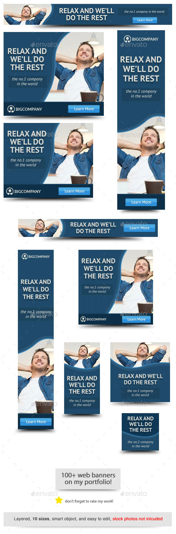 Corporate Web Banner Design Template 67 - Banners & Ads Web Elements