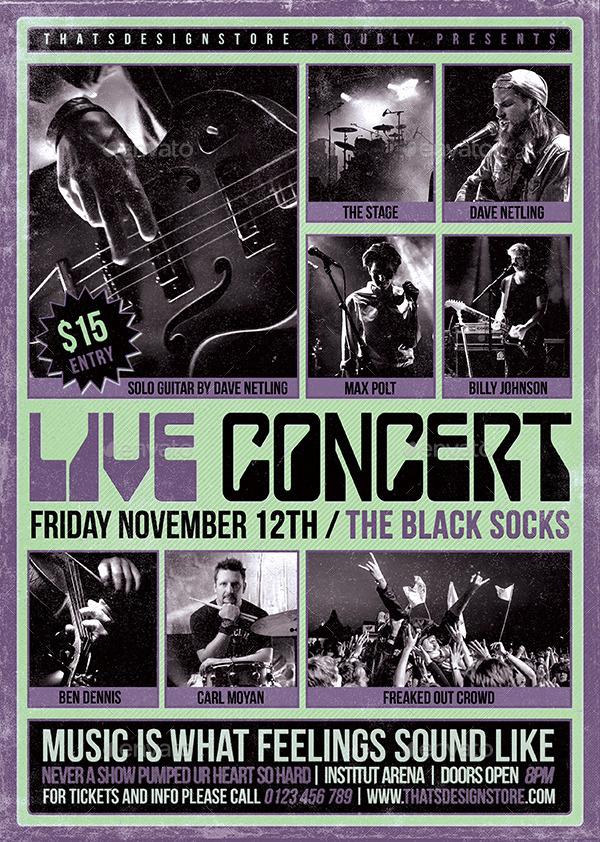 concert flyer examples
