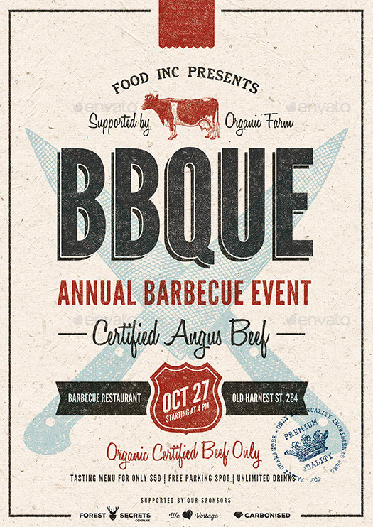 BBQ Event Flyer/Poster by moodboy | GraphicRiver