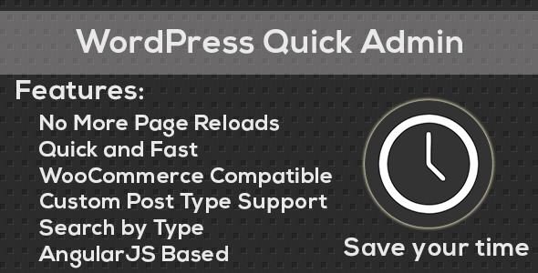 WordPress Quick Admin