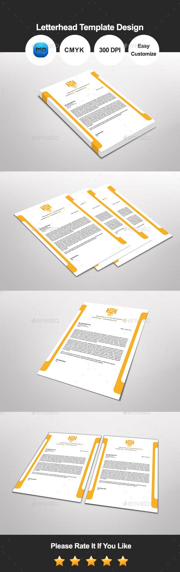 Rando Letterhead Template Design - Proposals & Invoices Stationery