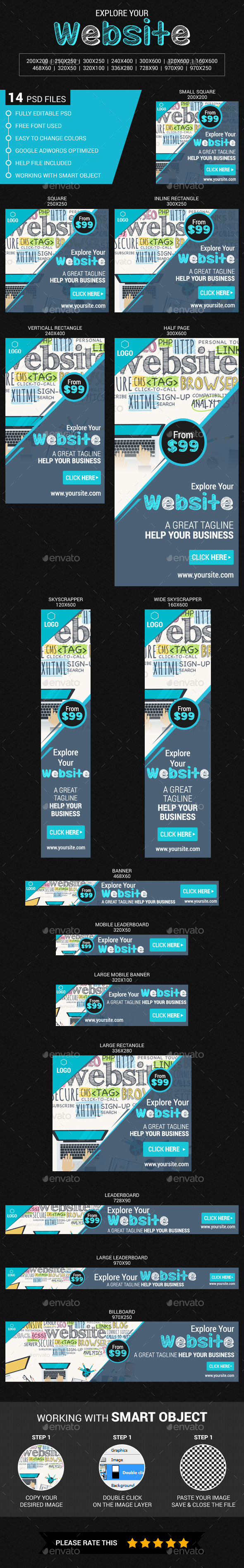 Explore Your Website - Banners & Ads Web Elements