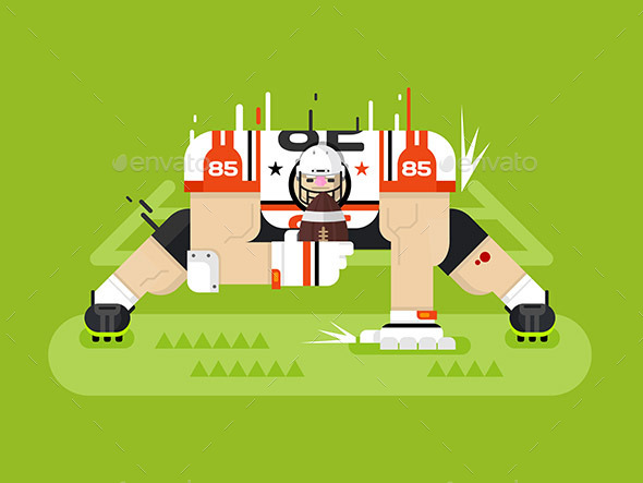 American Football Player - People Characters