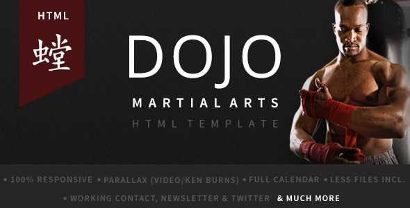 Dojo Martial Arts HTML Template - Health & Beauty Retail