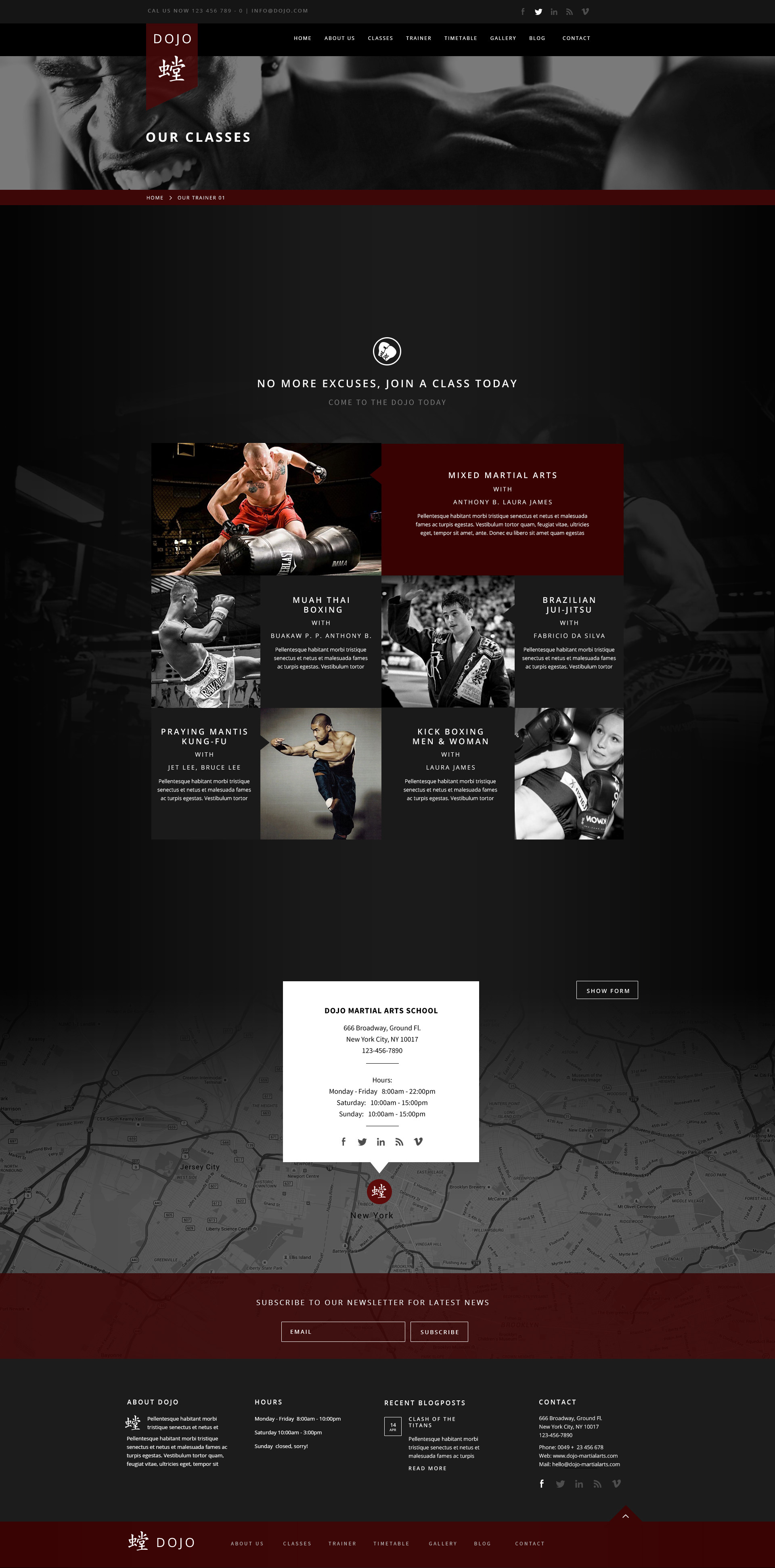 Dojo Martial Arts HTML Template by createit-pl | ThemeForest