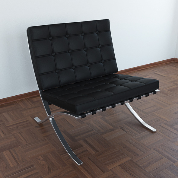 Barcelona chair - 3DOcean Item for Sale