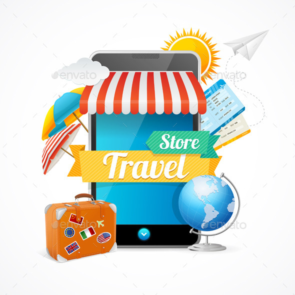 On-line Travel Concept - Travel Conceptual