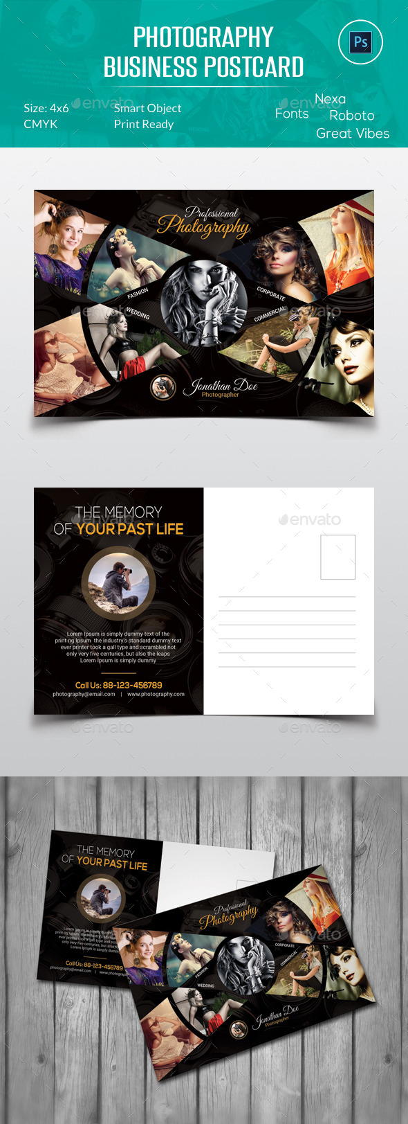 Photography Postcard - Cards & Invites Print Templates