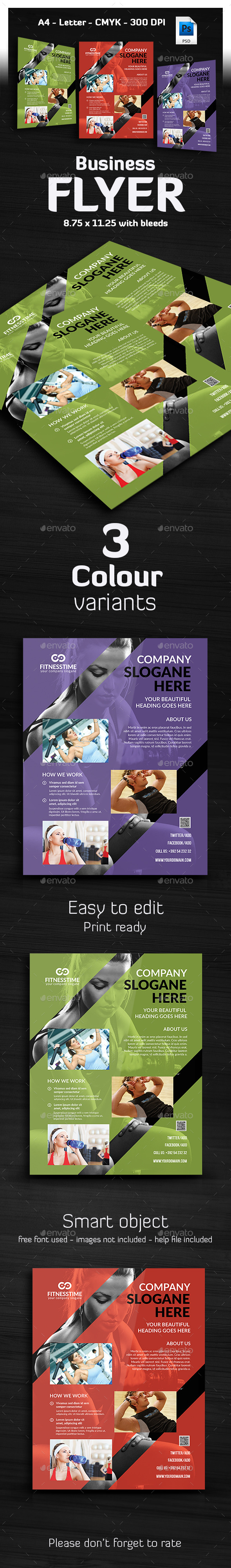 Fitness / Gym Flyer Template - Corporate Flyers