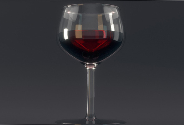 glass of wine - 3DOcean Item for Sale