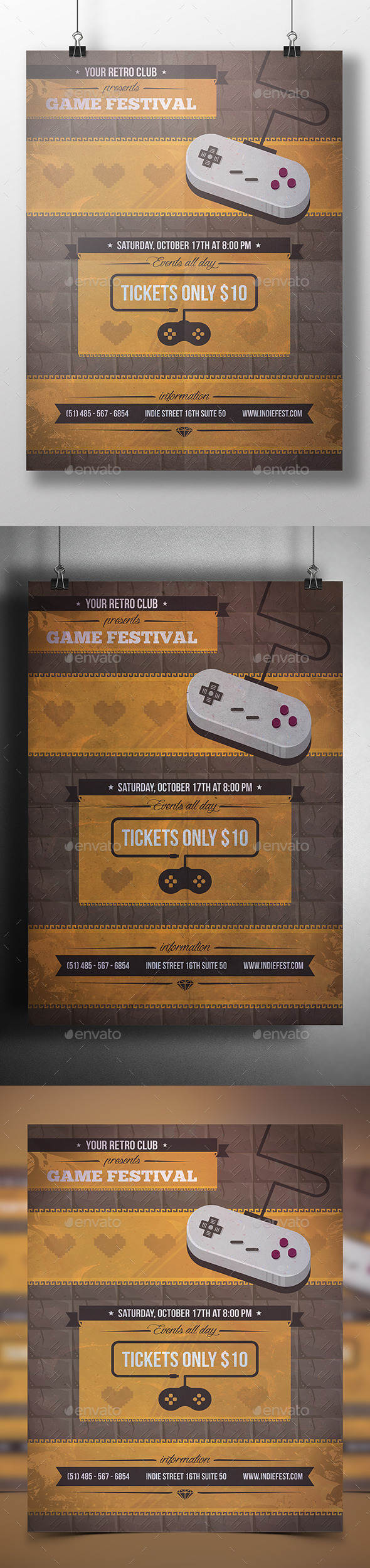 Game Party Poster Template - Miscellaneous Events