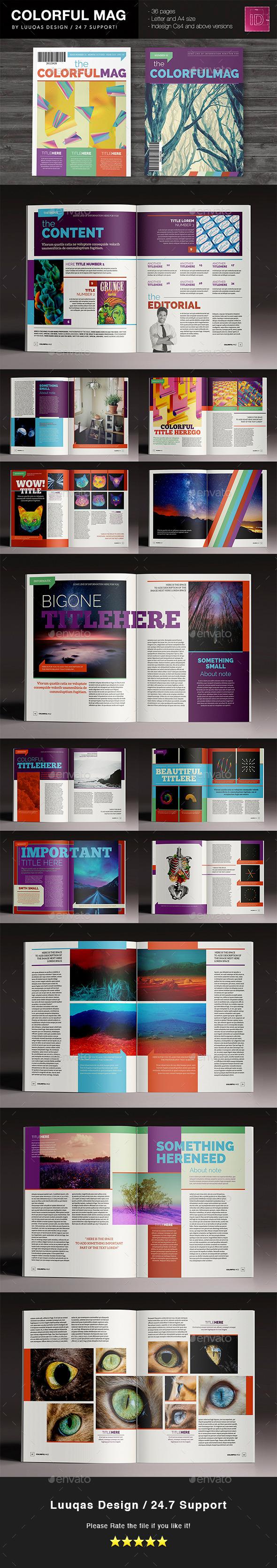 The Colorful Magazine - Magazines Print Templates