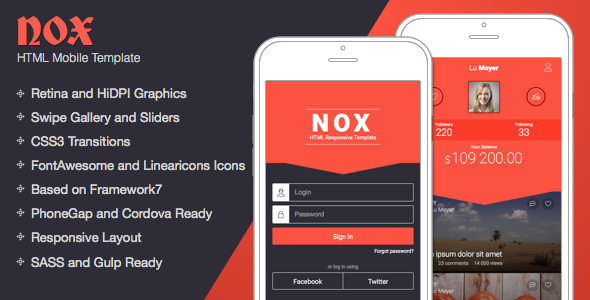 NOX | Mobile Template