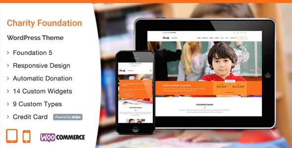 Charity – Foundation WordPress Theme