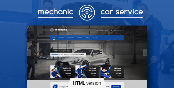 Mechanic - Car Service & Repair Workshop Template