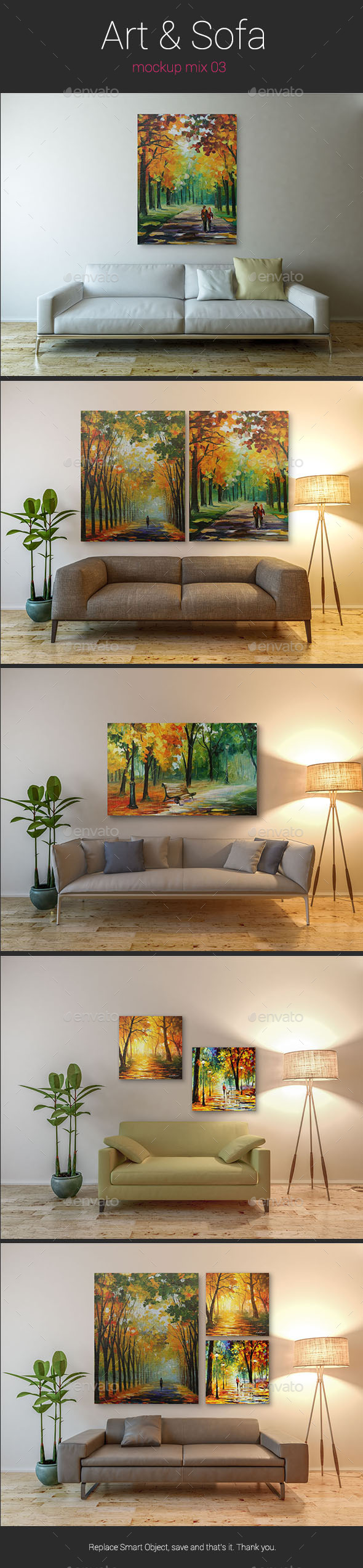 Art & Sofa Mockup - 03 - Posters Print