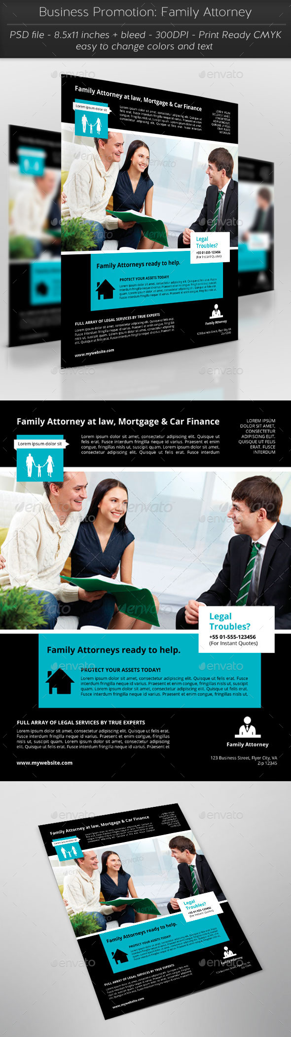 Business Promotion: Family Attorney - Flyers Print Templates