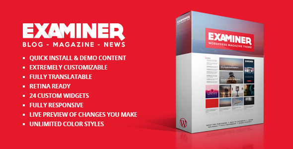 Examiner Magazine Theme