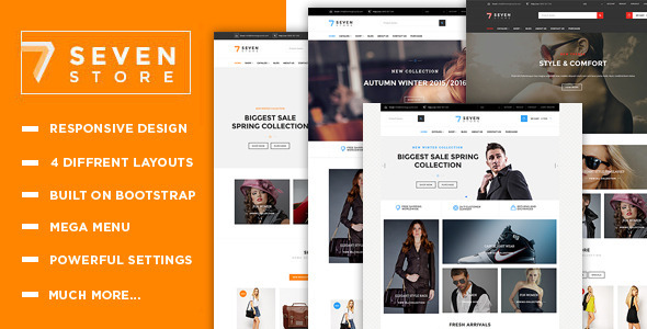 Seven Store - Multipurpose Responsive Shopify Theme - Shopping Shopify