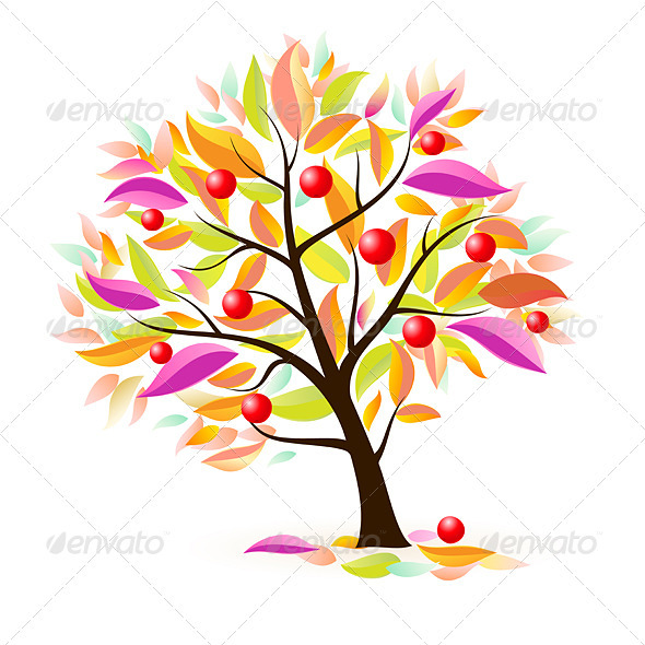 Stylized apple tree - Characters Vectors