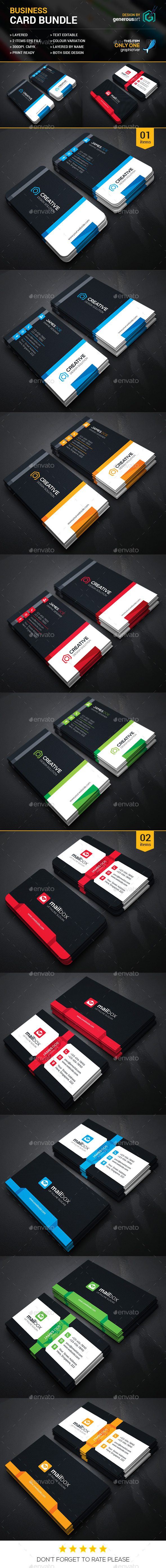 Business Card Bundle 2 in 1 vol.13