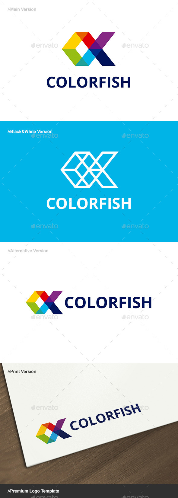 Color Fish Logo - Animals Logo Templates