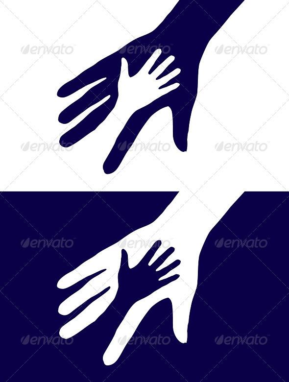 Hands silhouette - Characters Vectors