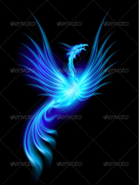 Burning phoenix - Characters Vectors