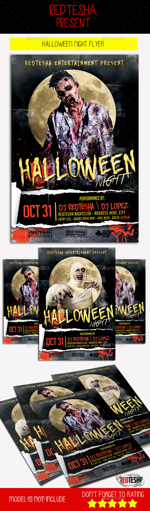 Halloween Night Flyer - Holidays Events