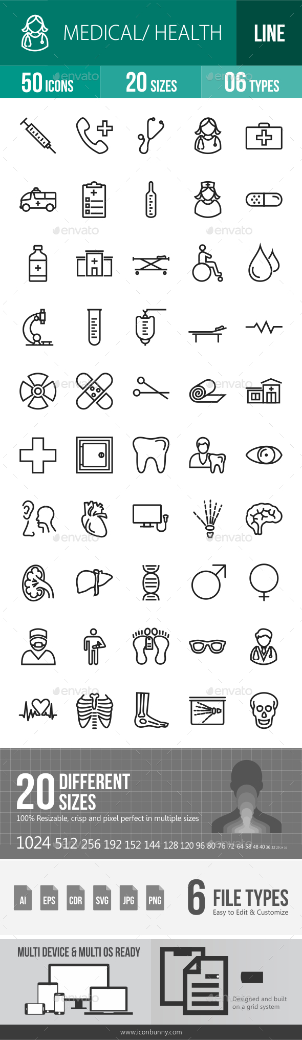 Medical Line Icons - Icons