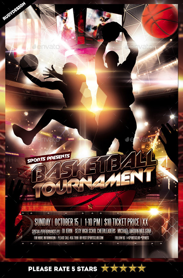 Basketball Tournament Flyer By Rudydesign  Graphicriver