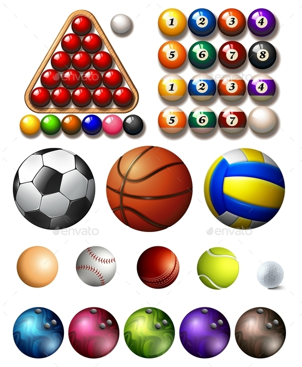 Different Kind of Balls of Many Sports - Sports/Activity Conceptual