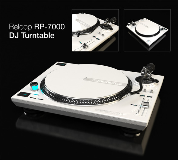 Reloop RP-7000 DJ Turntable - 3DOcean Item for Sale
