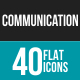 Communication Flat Multicolor Icons