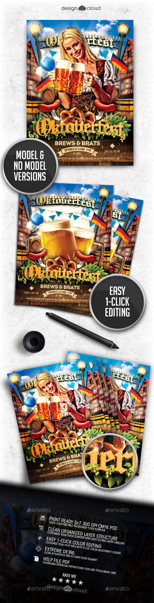 Oktoberfest Vol. 2 Flyer Template - Holidays Events